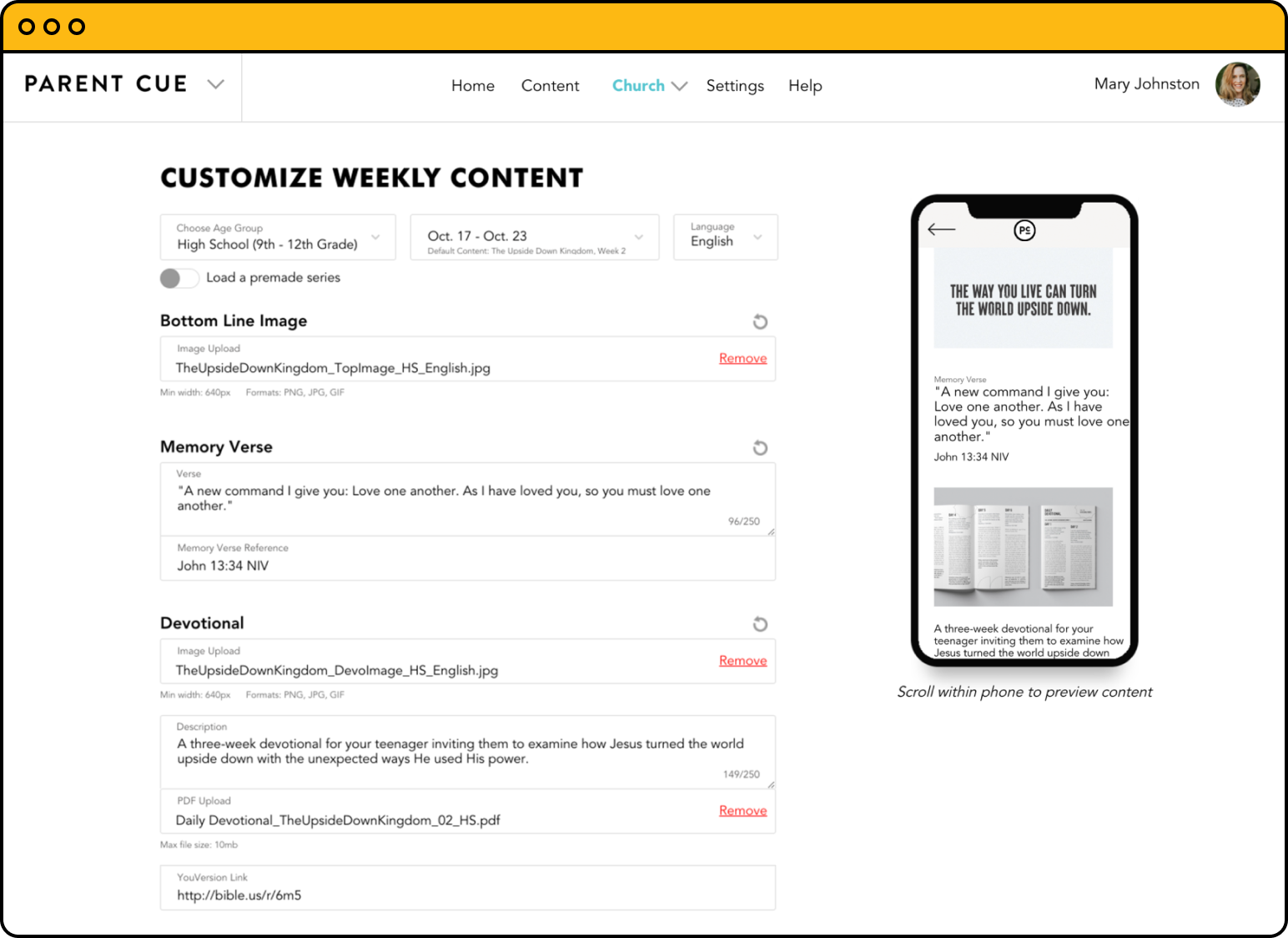 Orange curriculum sets the bar high for weekly discipleship content, and intuitive design makes updating and customizing content easier than ever before.